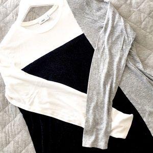 VINCE. color block long sleeve t-shirt